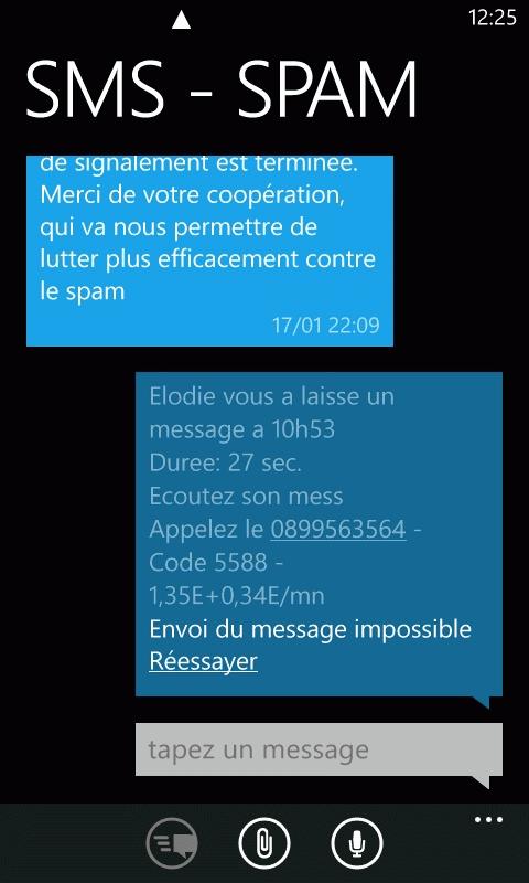 Souvent Smartphone France Windows Edition : Problème avec certains numéros  ZD33