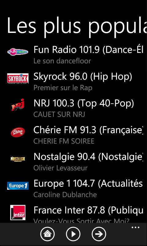 Smartphone France Windows Edition : TuneIn Radio enfin