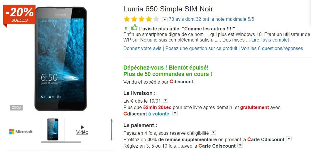 Carte Cdiscount Utile.Smartphone France Windows Edition Les Windows Phone Se Vendent
