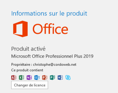 Activation Office 2019